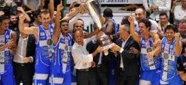trionfo della Dinamo Sassari nella Supercoppa Italiana di basket